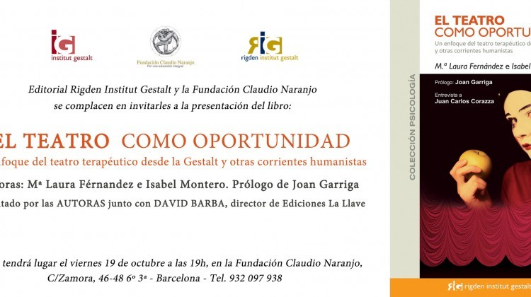 Presentación el día 19 de octubre de 2012 del libro: El teatro como oportunidad